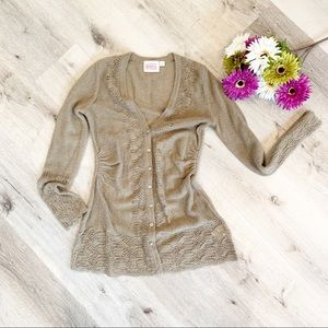 Anthropologie Light Brown Cardigan